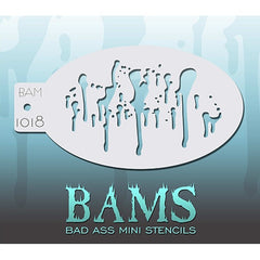 Bad Ass Mini Stencils - Drips - BAM1018