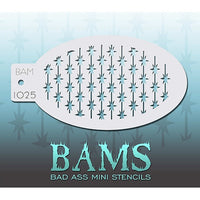 Bad Ass Mini Stencils - Barbed Wire - BAM1025