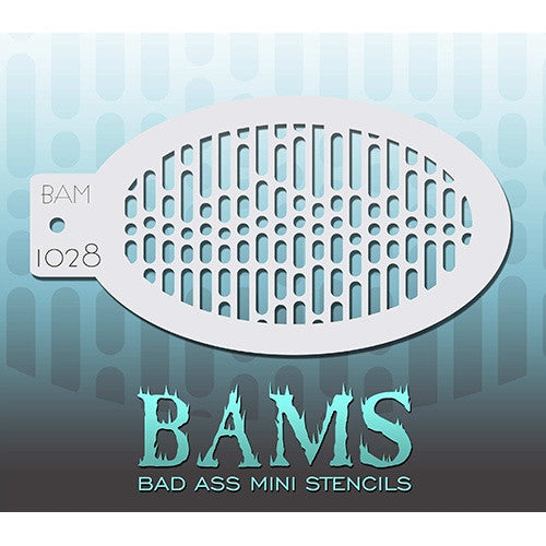 Bad Ass Mini Stencils - Data Stream - BAM1028