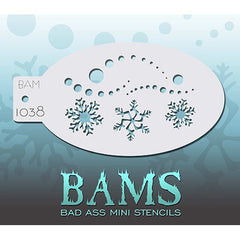 Bad Ass Mini Stencils - Snowy - BAM1038