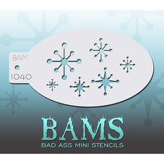 Bad Ass Mini Stencils - Retro Starbursts - BAM1040