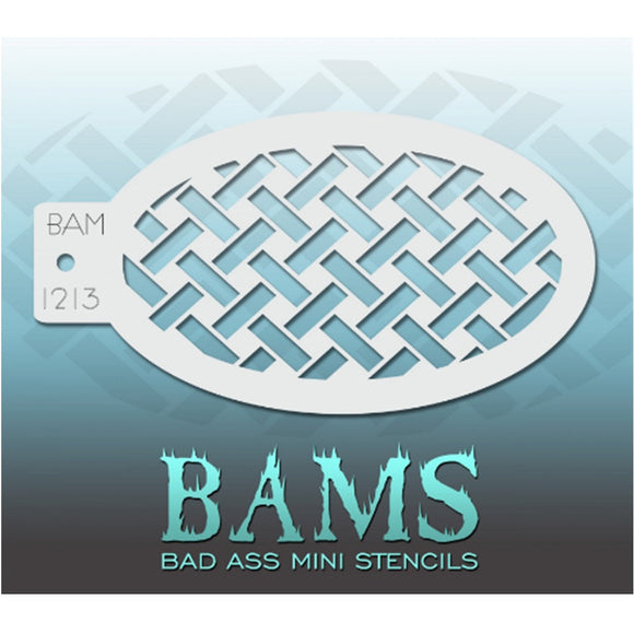 Bad Ass Mini Stencils are oval shaped, with a hole in the end for easy storage on a chain. Chain not included. Each stencil measures 5