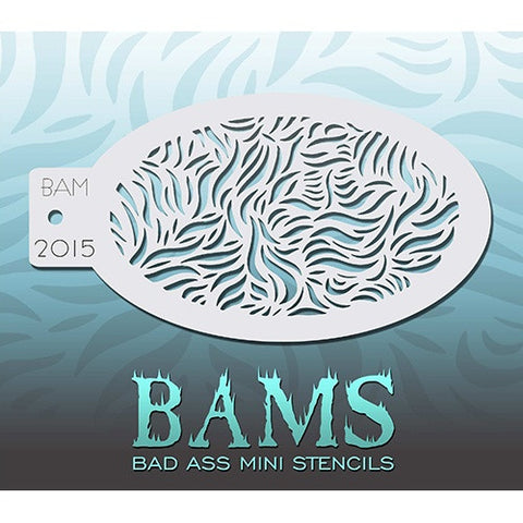 Bad Ass Mini Stencils - Curved Foliage - BAM2015