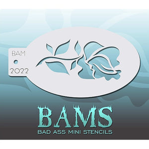 Bad Ass Mini Stencils - Rose - BAM2022