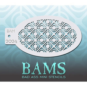 Bad Ass Mini Stencils - Retro Circles - BAM2024