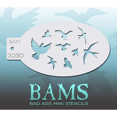 Bad Ass Mini Stencils - The Birds - BAM2030