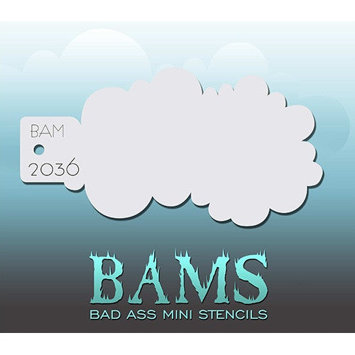 Bad Ass Mini Stencils - Cloudy - BAM2036