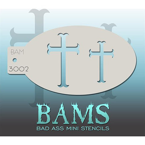 Bad Ass Mini Stencils - Crosses - BAM3002