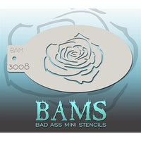 Bad Ass Mini Stencils - Rose Outline - BAM3008
