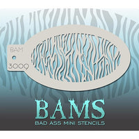 Bad Ass Mini Stencils - Small Zebra - BAM3009