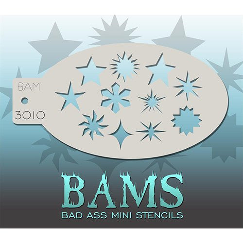 Bad Ass Mini Stencils - Stars & Shapes - BAM3010