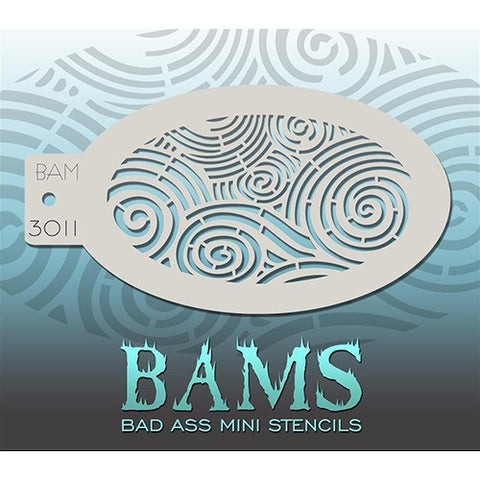 Bad Ass Mini Stencils - Curvy Curls - BAM3011