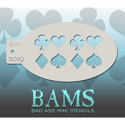 Bad Ass Mini Stencils - Playing Cards - BAM3019