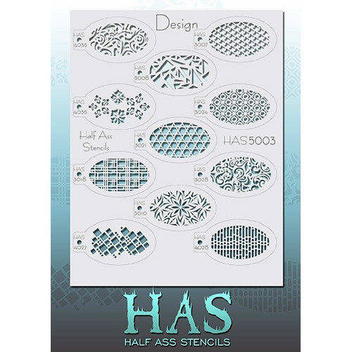 Half Ass Stencils (Design - HAS5003)