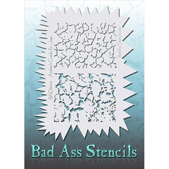 Bad Ass Full Size Stencils - Cracks and Jags - BAD6003