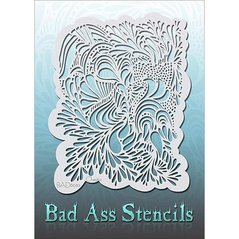 Bad Ass Full Size Stencils - Chaotic - BAD6032