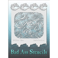 "Bad Ass Full Size Stencils - BAD6042 - Waves are about 8.5"" x 11"" in size and contain several related designs. They are perfect for a variety of body and face painting designs. Textured edges allow the artist to create multiple designs with the same sheet.<br><br>The Bad Ass line of stencils, launched by famous body paint artist - Andrea O'Donnell, are high quality, flexible, fun stencils that take body painting to the next level. These high grade mylar stencils are thin and work great for adding details to"