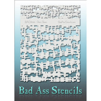 "Bad Ass Full Size Stencils - BAD6043 - Panic Room are about 8.5"" x 11"" in size and contain several related designs. They are perfect for a variety of body and face painting designs. Textured edges allow the artist to create multiple designs with the same sheet.<br><br>The Bad Ass line of stencils, launched by famous body paint artist - Andrea O'Donnell, are high quality, flexible, fun stencils that take body painting to the next level. These high grade mylar stencils are thin and work great for adding detai"