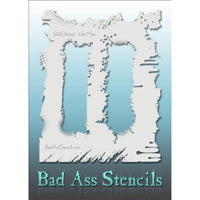 "Bad Ass Full Size Stencils - BAD6046 - Hot Mess are about 8.5"" x 11"" in size and contain several related designs. They are perfect for a variety of body and face painting designs. Textured edges allow the artist to create multiple designs with the same sheet.<br><br>The Bad Ass line of stencils, launched by famous body paint artist - Andrea O'Donnell, are high quality, flexible, fun stencils that take body painting to the next level. These high grade mylar stencils are thin and work great for adding details"