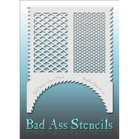 "Bad Ass Full Size Stencils - BAD6047 - Heavy Metal are about 8.5"" x 11"" in size and contain several related designs. They are perfect for a variety of body and face painting designs. Textured edges allow the artist to create multiple designs with the same sheet.<br><br>The Bad Ass line of stencils, launched by famous body paint artist - Andrea O'Donnell, are high quality, flexible, fun stencils that take body painting to the next level. These high grade mylar stencils are thin and work great for adding deta"