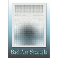 "Bad Ass Full Size Stencils - BAD6048 - Halftone are about 8.5"" x 11"" in size and contain several related designs. They are perfect for a variety of body and face painting designs. Textured edges allow the artist to create multiple designs with the same sheet.<br><br>The Bad Ass line of stencils, launched by famous body paint artist - Andrea O'Donnell, are high quality, flexible, fun stencils that take body painting to the next level. These high grade mylar stencils are thin and work great for adding details"