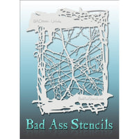 "Bad Ass Full Size Stencils - BAD6050 - Unlucky are about 8.5"" x 11"" in size and contain several related designs. They are perfect for a variety of body and face painting designs. Textured edges allow the artist to create multiple designs with the same sheet.<br><br>The Bad Ass line of stencils, launched by famous body paint artist - Andrea O'Donnell, are high quality, flexible, fun stencils that take body painting to the next level. These high grade mylar stencils are thin and work great for adding details"