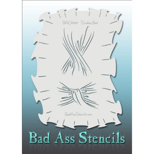 "Bad Ass Full Size Stencils - BAD6061 - Sunday Best are about 8.5"" x 11"" in size and contain several related designs. They are perfect for a variety of body and face painting designs. Textured edges allow the artist to create multiple designs with the same sheet.<br><br>The Bad Ass line of stencils, launched by famous body paint artist - Andrea O'Donnell, are high quality, flexible, fun stencils that take body painting to the next level. These high grade mylar stencils are thin and work great for adding deta"