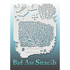 "Bad Ass Full Size Stencils - BAD6064 - Reef Madness are about 8.5"" x 11"" in size and contain several related designs. They are perfect for a variety of body and face painting designs. Textured edges allow the artist to create multiple designs with the same sheet.<br><br>The Bad Ass line of stencils, launched by famous body paint artist - Andrea O'Donnell, are high quality, flexible, fun stencils that take body painting to the next level. These high grade mylar stencils are thin and work great for adding det"