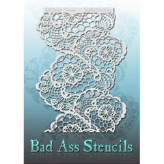 "Bad Ass Full Size Stencils - BAD6066 - Vintage are about 8.5"" x 11"" in size and contain several related designs. They are perfect for a variety of body and face painting designs. Textured edges allow the artist to create multiple designs with the same sheet.<br><br>The Bad Ass line of stencils, launched by famous body paint artist - Andrea O'Donnell, are high quality, flexible, fun stencils that take body painting to the next level. These high grade mylar stencils are thin and work great for adding details"