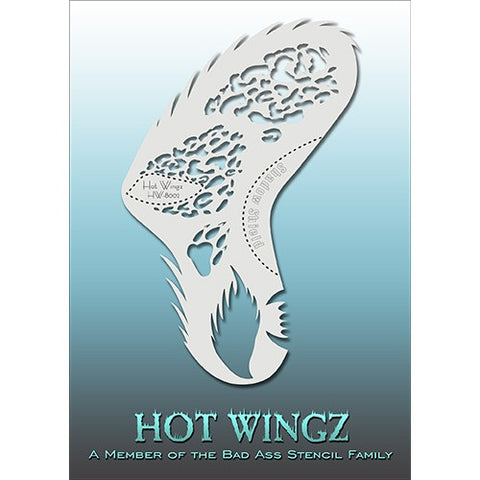 Bad Ass Hot Wingz Stencils - Leopard - HOTWING8002