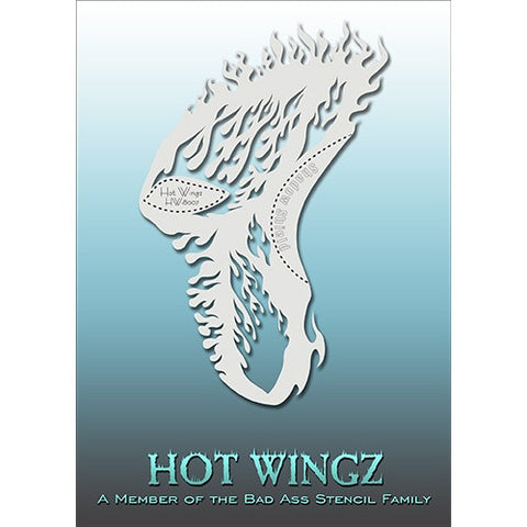 Bad Ass Hot Wingz Stencils - Flames - HOTWING8007