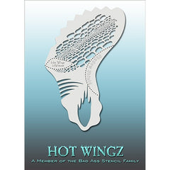 Bad Ass Hot Wingz Stencils - Reptile - HOTWING8008