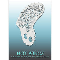 Bad Ass Hot Wingz Stencils - Fancy Swirls - HOTWING8011