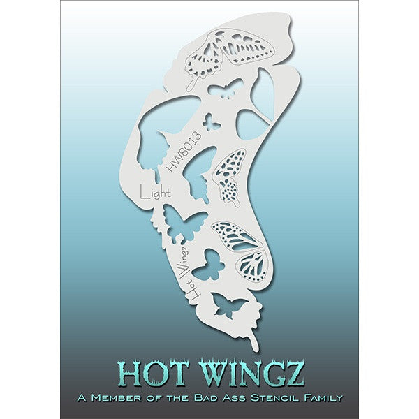 Bad Ass Hot Wingz Stencils - Light - HOTWING8013