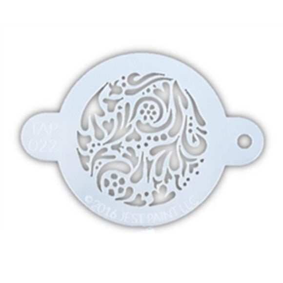 TAP Face Painting Stencil - Swirly (022)