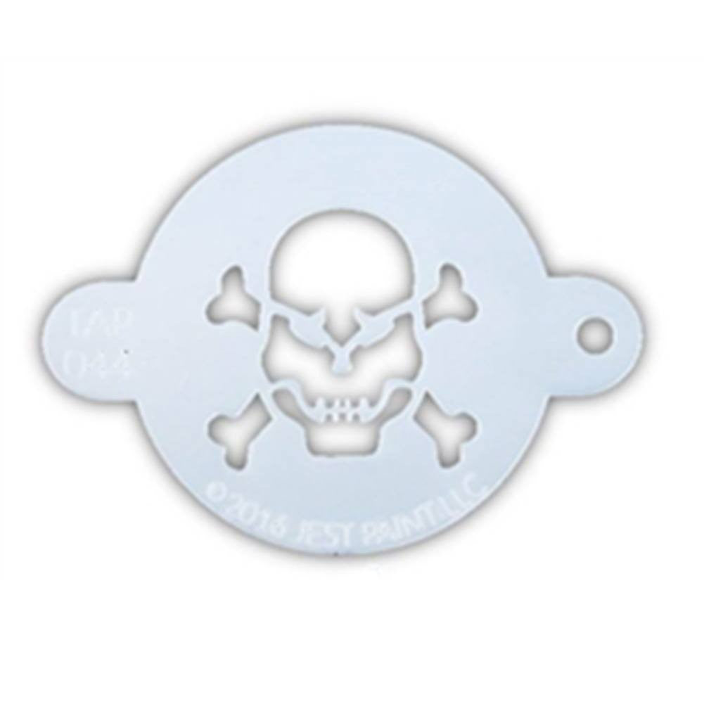 TAP Face Painting Stencil - Skull with Crossbones (044)