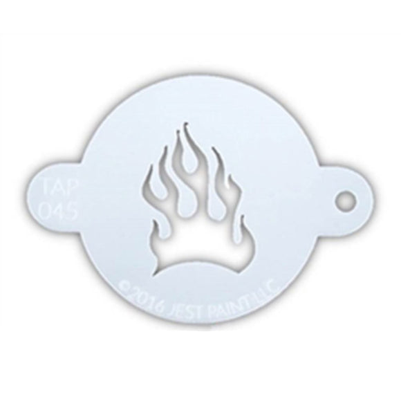 TAP Face Painting Stencil - Fire Flame (045)
