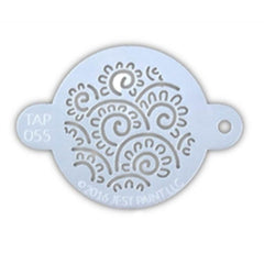 TAP Face Painting Stencil - Henna Floral Swirls (055)