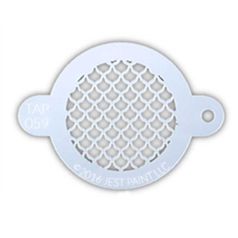 TAP Face Painting Stencil - Fish Scales (059)