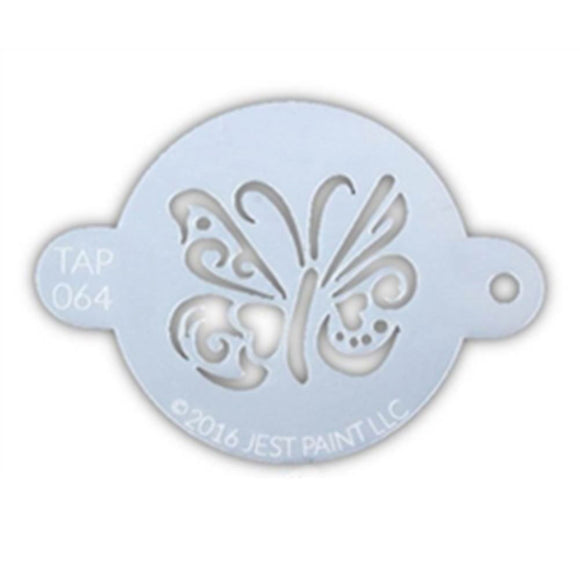 TAP Face Painting Stencil - Ornate Butterfly (064)
