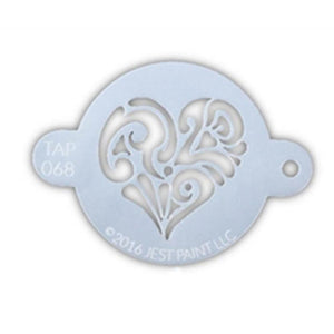 TAP Face Painting Stencil - Ornate Heart (068)