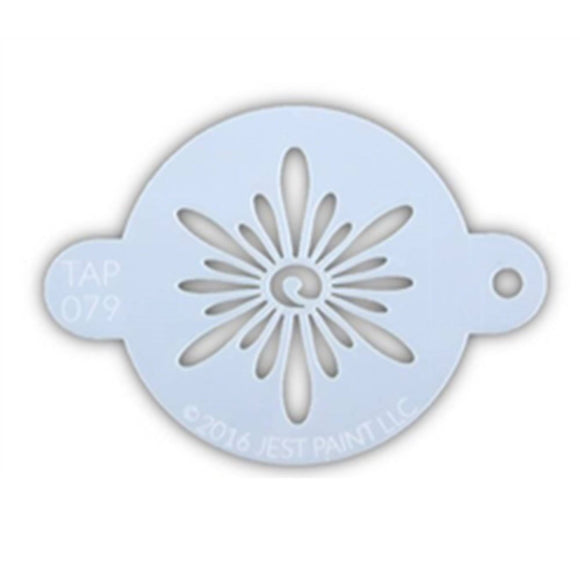 TAP Face Painting Stencil - Ornate Sun (079)