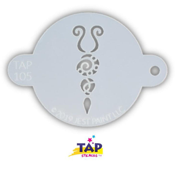 TAP Face Painting Stencil - Butterfly Body (105)