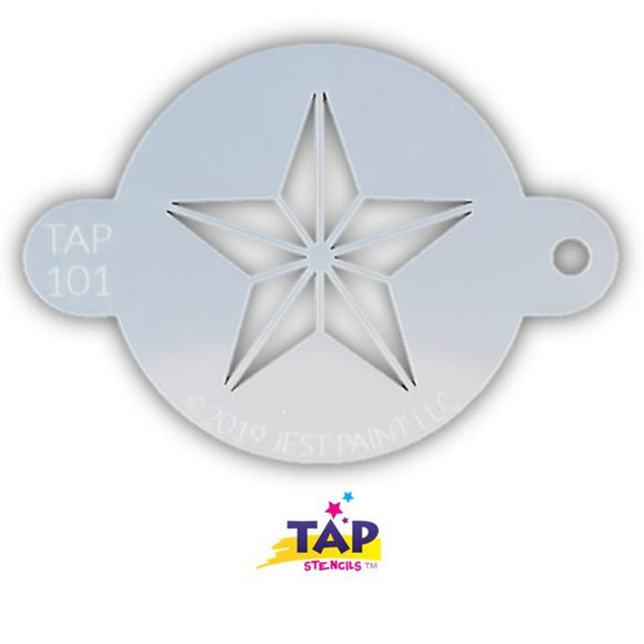 TAP Face Painting Stencil - Super Star (101)