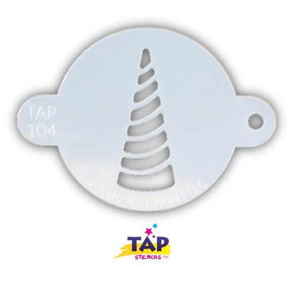 TAP Face Painting Stencil - Unicorn Horn Swirl (104)
