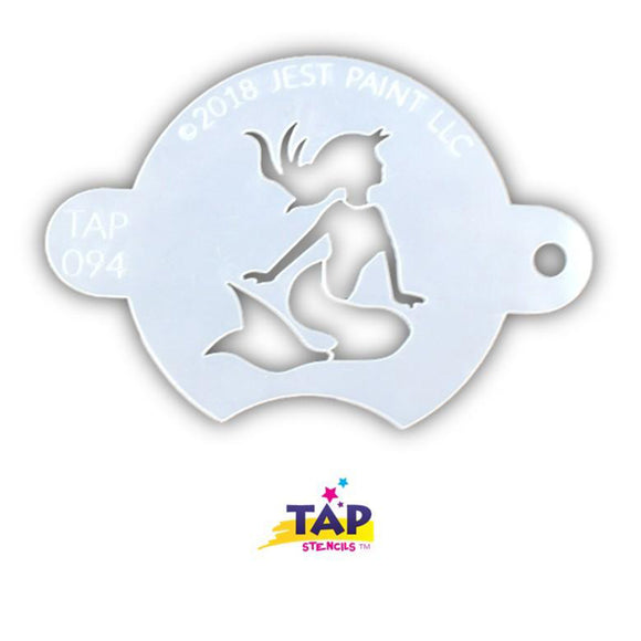 TAP Face Painting Stencil - Sun Bathing Mermaid (094)