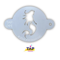 TAP Face Painting Stencil - Mystical Mermaid (091)