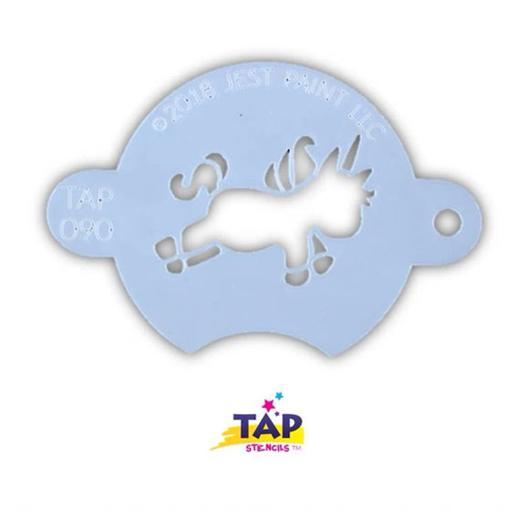 TAP Face Painting Stencil - Chubby Little Unicorn (090)