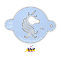 TAP Face Painting Stencil - Pretty Unicorn Centerpiece (089)