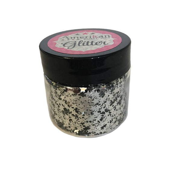 Amerikan Body Art Chrome Silver Glitter Stars (1 oz)
